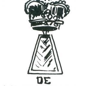 Uithangteken 'De Keyserscroon', tekening, J.P. Proesmans (uit: Hasselt intra muros (1989), p. 206)