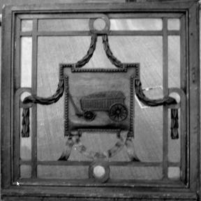Demerstraat - 'De Kempische Hoeywagen', bovenlicht, 18de eeuw (collectie Het Stadsmus Hasselt)