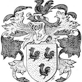 Familiewapen Haenen (uit: Goole F. & Severijns P., Limburgse families en hun wapen, in: Het Belang van Limburg, 21-04-1973, p. 16)