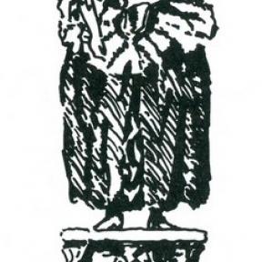 Uithangteken 'De Keyserinne', Kapelstraat, tekening, J.P. Proesmans (uit: Hasselt intra muros, (1989), p. 149)
