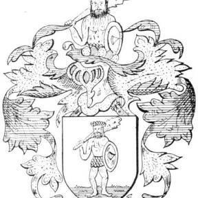 Familiewapen Squaden (uit: Goole F. & Severijns P., Limburgse families en hun wapen, in: Het Belang van Limburg, 24-01-1970, p. 12)