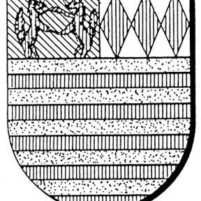 Familiewapen Vuskens (uit: Oog in Oog (2003), p. 307)