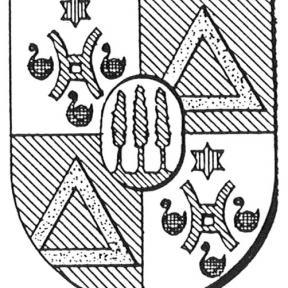 Familiewapen van der Straeten (uit: Oog in Oog (2003), p. 276)
