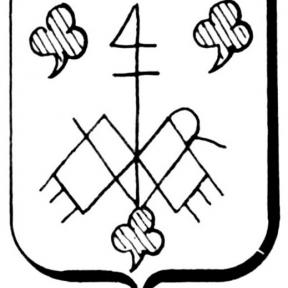 Familiewapen van Weert (uit: Het Belang van Limburg, 02-04-1977, p. 39)