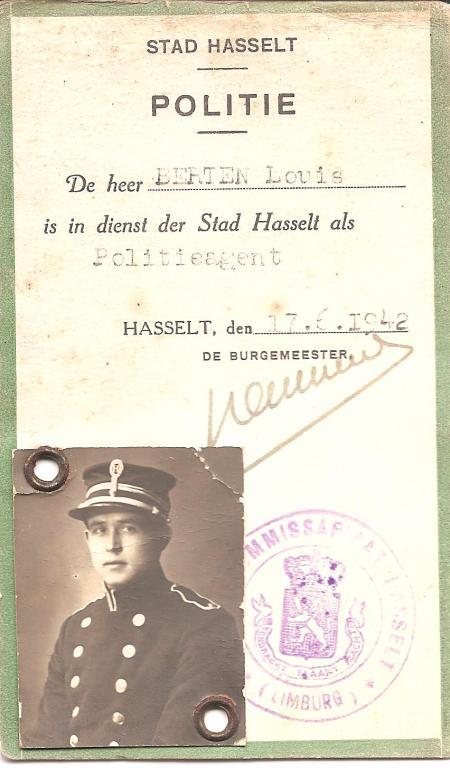 Politiekaart van Louis Berten, 1942 (uit: privécollectie)