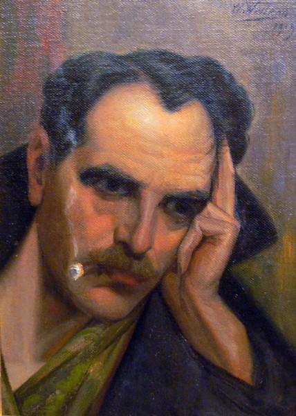 Olieverfportret 'Arthur Coninx', 1919, Charles Wellens (collectie Het Stadsmus Hasselt)