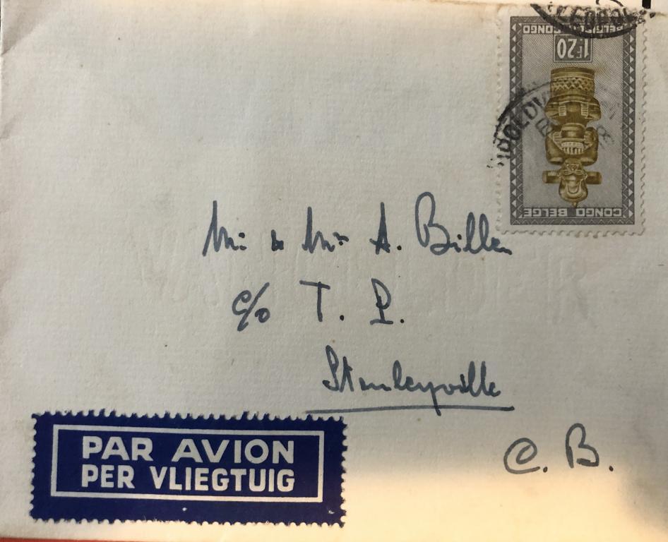 Fam. Billen, brief naar Stanleystad (foto: privécollectie)