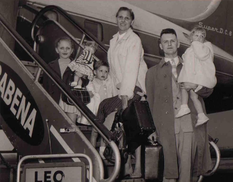 Familie Melotte-Coenen in Congo, 1957-1960 (foto: privécollectie)