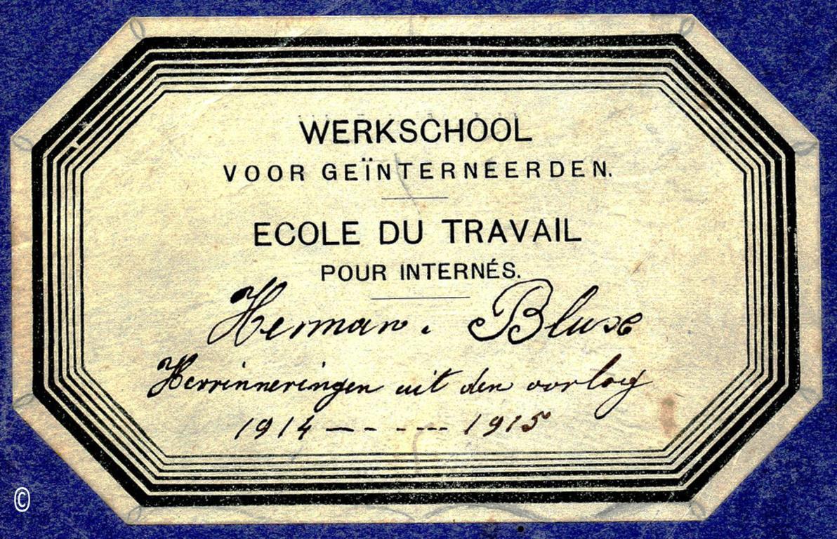 Notitieschrift met herinneringen aan WO I, door Herman Blux (foto: privécollectie)