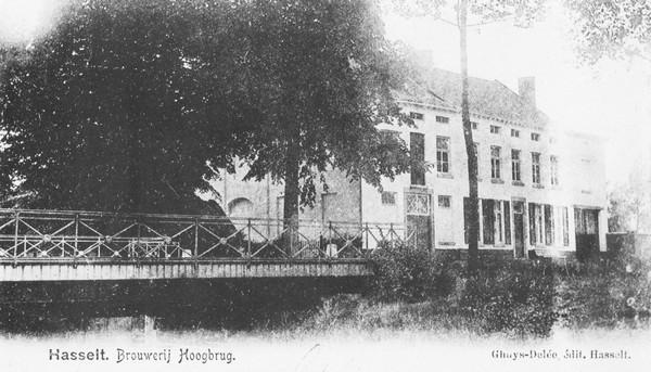 Brouwerij Hoogbrug (Kempische Steenweg) (uit: Hasselt toen en nu (1985), p. 85)