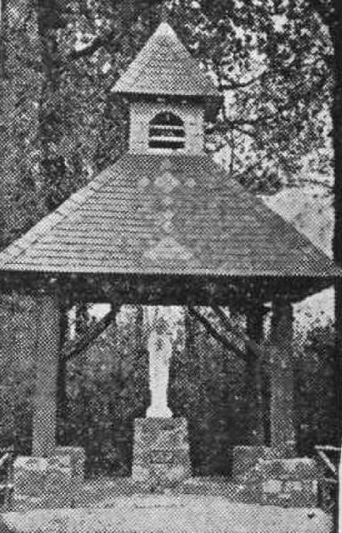 De nieuwe kapel, Kozenstraat (uit: Prachtige Kapel ter ere O L. Vrouw van Banneux ingewijd te Stevoort (1953))