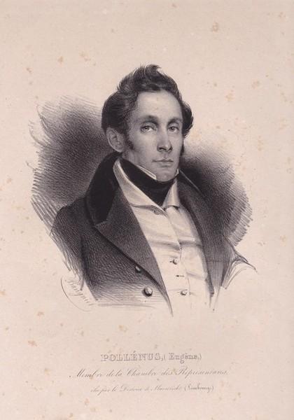 Portret Eugène Pollenus (1796-1876), litho (privécollectie)