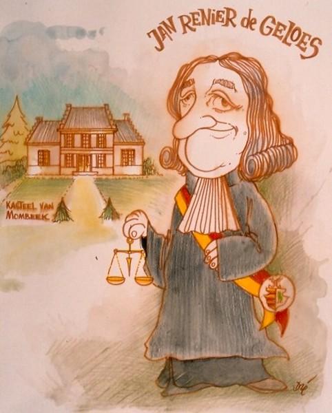 Jan Renier de Geloes (1627-1684), cartoon, Dré Mathijs (collectie Het Stadsmus Hasselt)