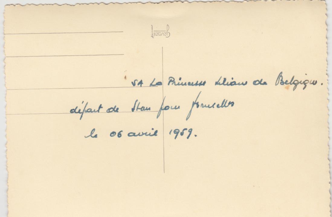 Familie De Wilde, vertrek van prinses Lilianne uit Stanleyville 6 april 1959, foto 3 (foto: privécollectie)