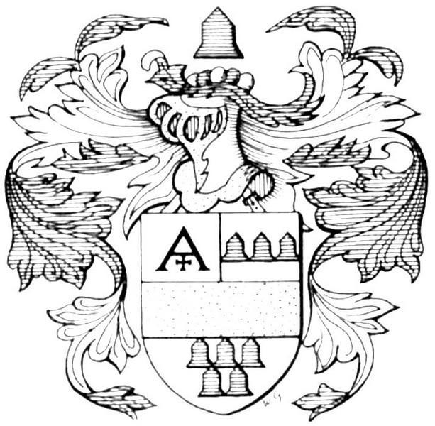 Familiewapen burgemeester Jan van Manshoven (uit: Het Belang van Limburg, 15-05-1982, p. 45)