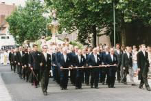 Virga Jesseommegang 1989 - Voorgrond Broederschap van Onze-Lieve-Vrouw Virga (foto: collectie Virga Jessecomité)