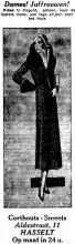 Advertentie 'Huis Corthouts-Smeets', Aldestraat 11 (uit: Het Algemeen Belang der Provincie Limburg, 15-10-1932, p. 5)