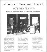 Advertentie 'Luc's Hair Fashion', Aldestraat 11 (uit: Het Belang van Limburg, 22-06-1974, p. 11)
