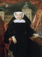 Olieverfportret Augustine van Hamme, abdis Herkenrode (1711-1790) (collectie Het Stadsmus Hasselt - bruikleen kerkfabriek Sint-Gertrudis Kuringen)