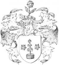 Familiewapen Berden, burgemeester 17de eeuw (uit: Het Belang van Limburg, 08-05-1982, p. 43)