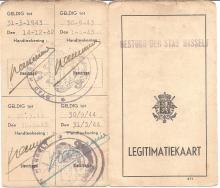 Politielegitimatiebewijs van Louis Berten uit 1942, verso (uit: privécollectie)