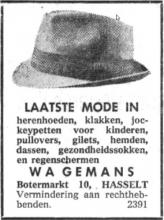 Advertentie 'Wagemans', Botermarkt 10 (uit: Het Belang van Limburg, 15-09-1966, p. 6)