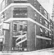 De nieuwste zetel van De Luikse Verzekering aan de Botermarkt, te Hasselt (uit: De Luikse Verzekering en de Luikse Grondmaatschappij tot uw dienst te Hasselt (1971))