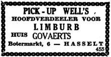 Advertentie 'Huis Govaerts', Botermarkt 6 (uit: Het Belang van Limburg, 20-05-1945, p. 3)