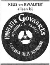 Advertentie 'Fonoplaten Govaerts', Botermarkt 6 (uit: Het Belang van Limburg, 18-03-1970, p. 11)