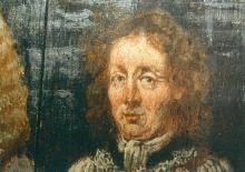 Portret Antoon van Hilst (uit: Broederschapspaneel O.-L-Vrouw Virga Jesse, 1709 - collectie Het Stadsmus Hasselt)