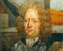Portret Arnold Briers (uit: Broederschapspaneel O.-L-Vrouw Virga Jesse, 1709 - collectie Het Stadsmus Hasselt)