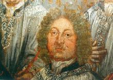 Portret Jan-Edmond Dierna (uit: Broederschapspaneel O.-L-Vrouw Virga Jesse, 1709 - collectie Het Stadsmus Hasselt)