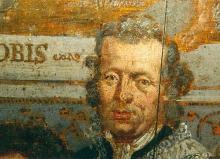 Portret Niklaas Lambrechts (uit: Broederschapspaneel O.-L-Vrouw Virga Jesse, 1709 - collectie Het Stadsmus Hasselt)