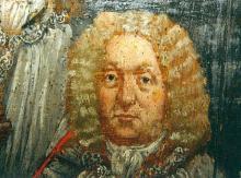 Portret Niklaas de Horion (uit: Broederschapspaneel O.-L-Vrouw Virga Jesse, 1709 - collectie Het Stadsmus Hasselt)