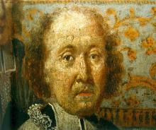 Portret Paul Broeckmans (uit: Broederschapspaneel O.-L-Vrouw Virga Jesse, 1709 - collectie Het Stadsmus Hasselt)
