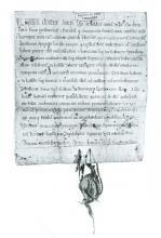 Charter, waarbij graaf Arnold IV van Loon bepaalde vrijheden aan de gemeente Kuringen schenkt in 1240. Bewaarplaats: Rijksarchief Hasselt (uit: Hasselt 750 jaar stad (1982), p. 29)