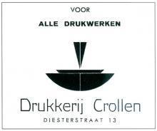 Publiciteit voor drukkerij Crollen, 1949 (uit: Drukkend Hasselt (2003), p. 31)