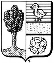 Familiewapen Frenay (uit: Het Belang van Limburg, 05-04-1975, p. 31)