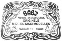 Advertentie 'Damesboetiek Bab's', Fruitmarkt 14 (uit: Het Belang van Limburg, 28-10-1970, p. 12)
