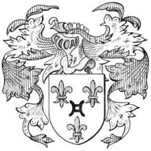 Familiewapen Ghijsbrechts (uit: Het Belang van Limburg, 31-12-1971, p. 13)