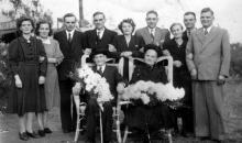 Gouden bruiloft Motmans-Ceulemans, 1950 (uit: Kuringen Sint-Jansheide Schimpen Tuilt Stokrooie / Warm aanbevolen (2004))