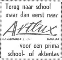 Advertentie 'Artlux', Havermarkt 2-4 (uit: Het Belang van Limburg, 17-08-1963, p. 38)