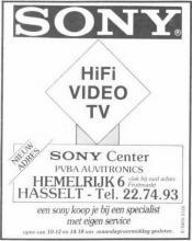 Advertentie 'Sony Center', Hemelrijk 6 (uit: Het Belang van Limburg, 07-12-1984, p. 25)