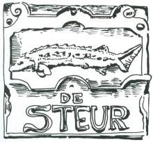 Uithangteken 'De Steur', tekening, J.P. Proesmans (uit: Hasselt intra muros (1989), p. 333)