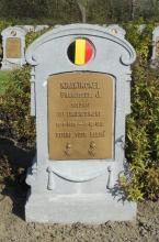 Grafsteen François Krawinckel (1895-1918), militaire begraafplaats De Panne (foto: Website Bel-Memorial)