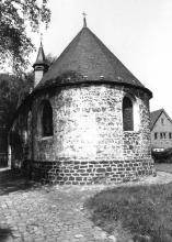 Kapel Onze-Lieve-Vrouw Boodschap, Spalbeekstraat 67 (uit: Inventaris van het cultuurbezit in België (1981), fig. 222bis - Frieda Schlusmans, 05-1976 - Vlaamse Gemeenschap)