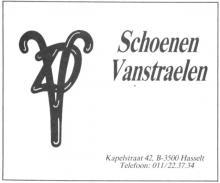 Advertentie 'Schoenen Vanstraelen', Kapelstraat 42 (uit: Het Belang van Limburg, 26-11-1987, p. 16)