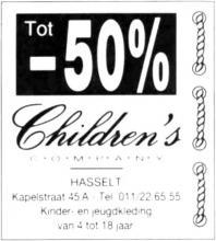 Advertentie 'Children's Company', Kapelstraat 45A (uit: Het Belang van Limburg, 30-06-1995, p. 5)