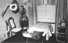 Relaxer en gezelliger kan het niet dan in de salons voor aangezichtsverzorging bij Verjans. (uit: Schoonheid in de superlatief bij Verjans-Hasselt (1975))