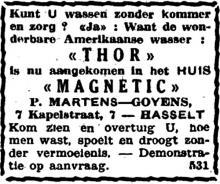 Advertentie 'P. Martens-Goyens', Kapelstraat 7 (uit: Het Belang van Limburg, 07-02-1948, p. 16)